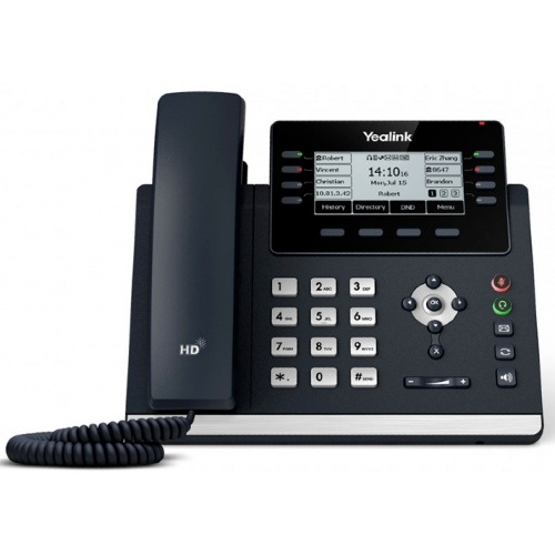 """Deskphone-Yealink-T43U """"Your local West Auckland I.T. company that supplies Computer, Internet & voice solutions that work""""."""