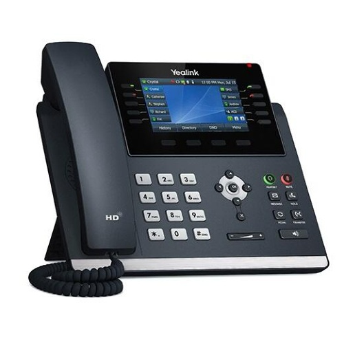 """Deskphone Yealink T46U """"Your local West Auckland I.T. company that supplies Computer, Internet & voice solutions that work""""."""