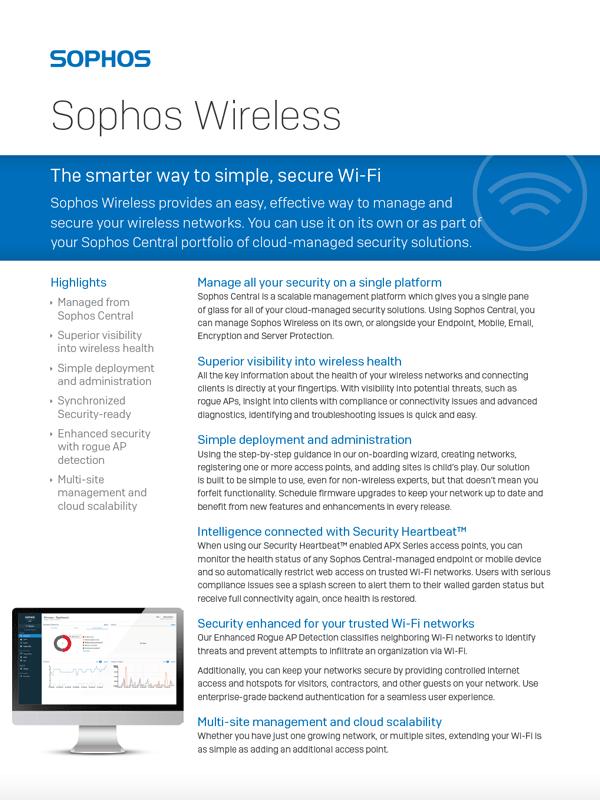 Sophos-Wireless-Datasheet