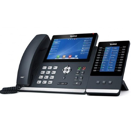 """Yealink T48U with exp43 """"Your local West Auckland I.T. company that supplies Computer, Internet & voice solutions that work""""."""